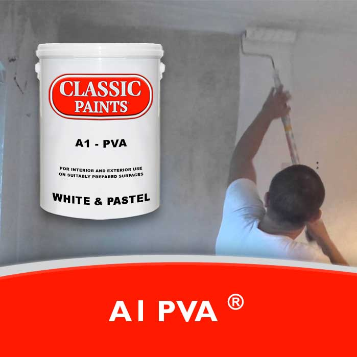 An Inexpensive PVA. Dries to a smooth matt finish. Ideal for interior raw masonry first coat.