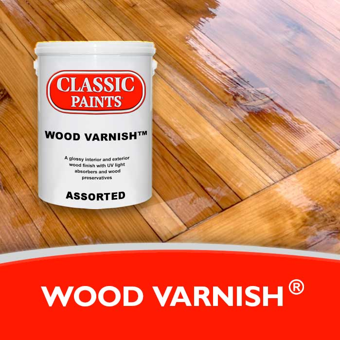 A glossy int./ext. wood finish with UV light absorbers and wood preservatives.