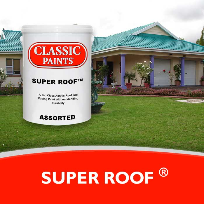 A Top Class 100% Acrylic Roof and Paving Paint with outstanding durability.